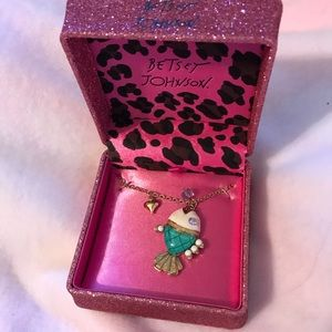 Betsey Johnson Fish necklace